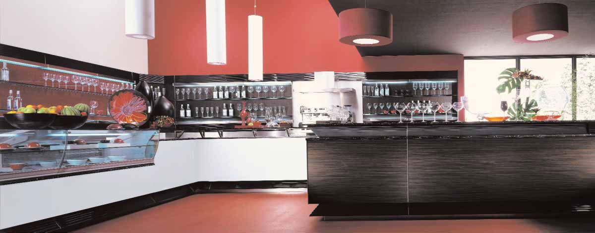 Progetto banco bar angolare for Banconi bar usati roma