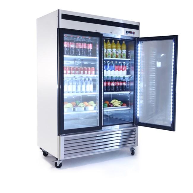 Armadio Frigo Due Ante.Armadio Refrigerato 2 8 C 2 Porte Vetro 1335 Lt