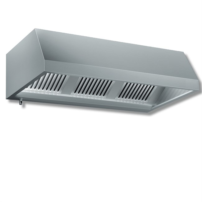 Cappa a parete acciaio inox 430 senza motore p 900