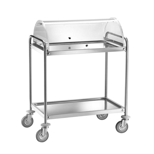 Carrello di servizio sala struttura e ripiani in acciaio inox - Ripiani in acciaio per cucine ...