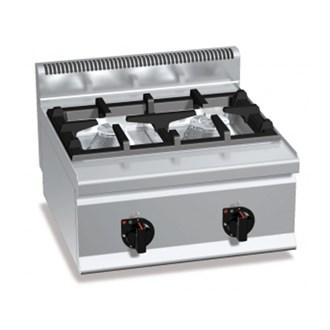 Cucina professionale 4 piastre elettriche su mobile - Cucina a gas due fuochi ...