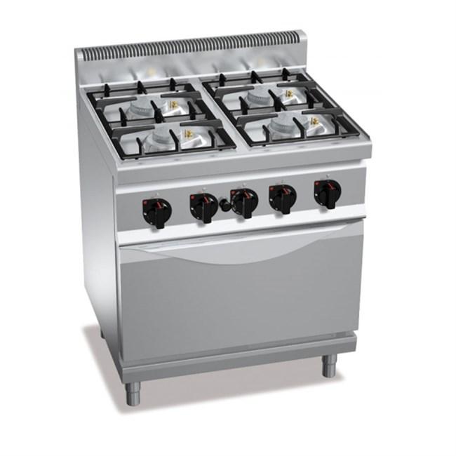 Cucina a gas 4 fuochi su forno elettrico - Cucine a gas con forno elettrico ...