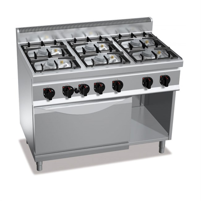 Cucina a gas 6 fuochi su forno a gas - Manutenzione cucina a gas ...
