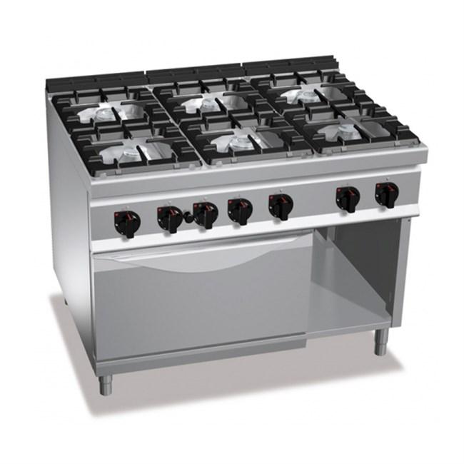 Cucina A Gas Con 6 Fuochi Su Forno Gas