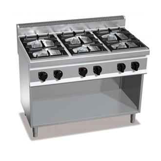 Cucina a gas 6 fuochi su mobile 31 5kw - Cucina 6 fuochi ...