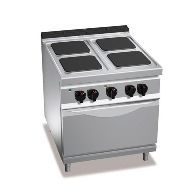 cucina professionale 4 fuochi elettrica e forno