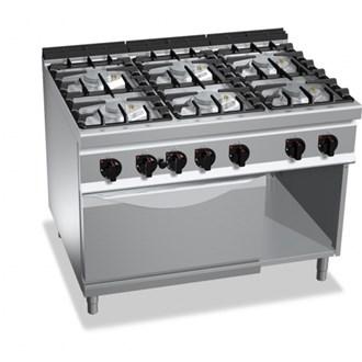 Cucina professionale 6 fuochi gas 48kw - Cucina a gas due fuochi ...