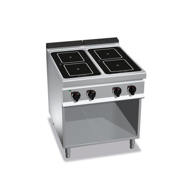 Cucina professionale induzione 4 zone su mobile - Cucina a induzione ...