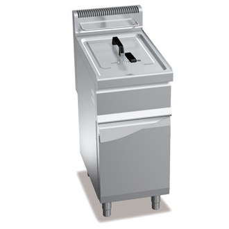 Friggitrice a gas professionale inox 15 lt