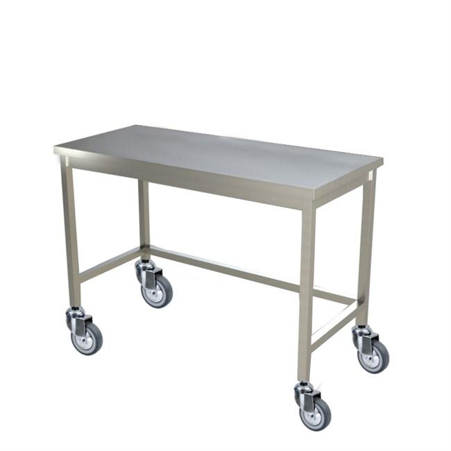 Tavolo inox professionale con ruote - Tavolo con ruote ...