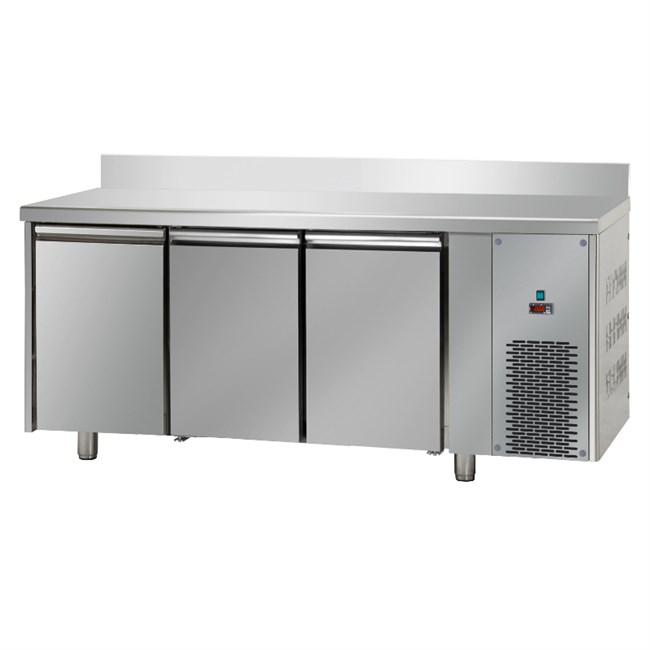 Tavolo Frigo professionale Bassa temperatura 3 porte e alzatina