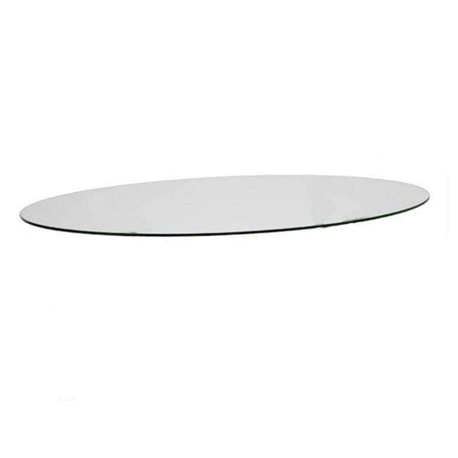 Piano In Vetro Per Tavolo.Piano Ovale Vetro 150x112 Per Basamento Metropolis