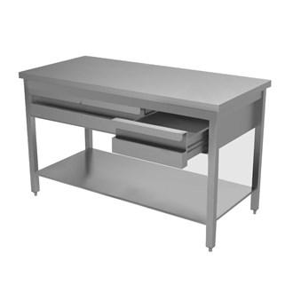 Tavolo acciaio inox professionale tavoli inox per ristorazione - Tavoli inox per ristorazione ...