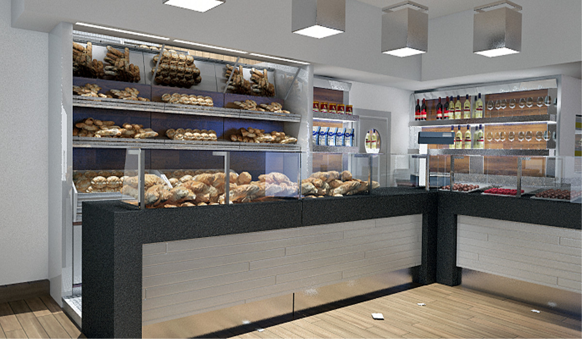Arredamento per panifici for Arredamento pizzeria moderno