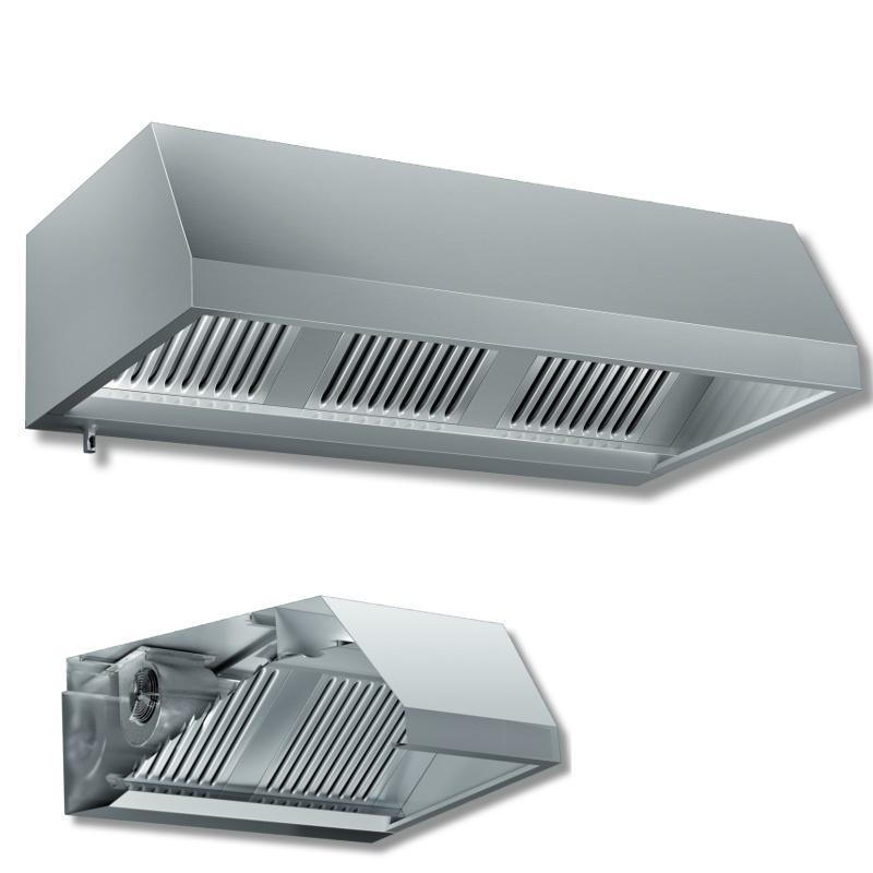 Cappa a parete in acciaio inox con motore p 1100 for Cappa acciaio