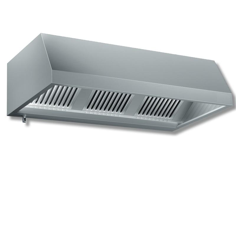 Cappa a parete acciaio inox 304 senza motore p 900 for Cappa acciaio