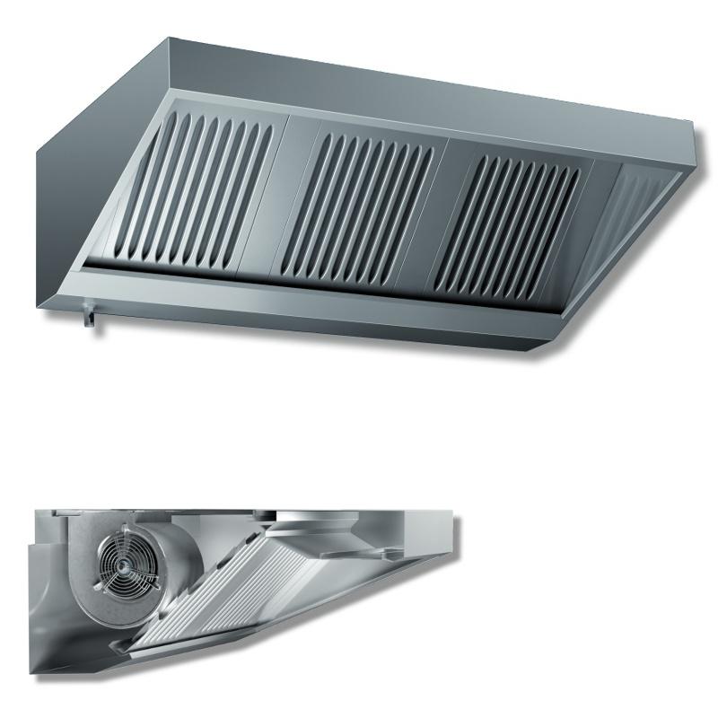 Cappa a parete snack in acciaio inox con motore p 1100 for Cappa acciaio
