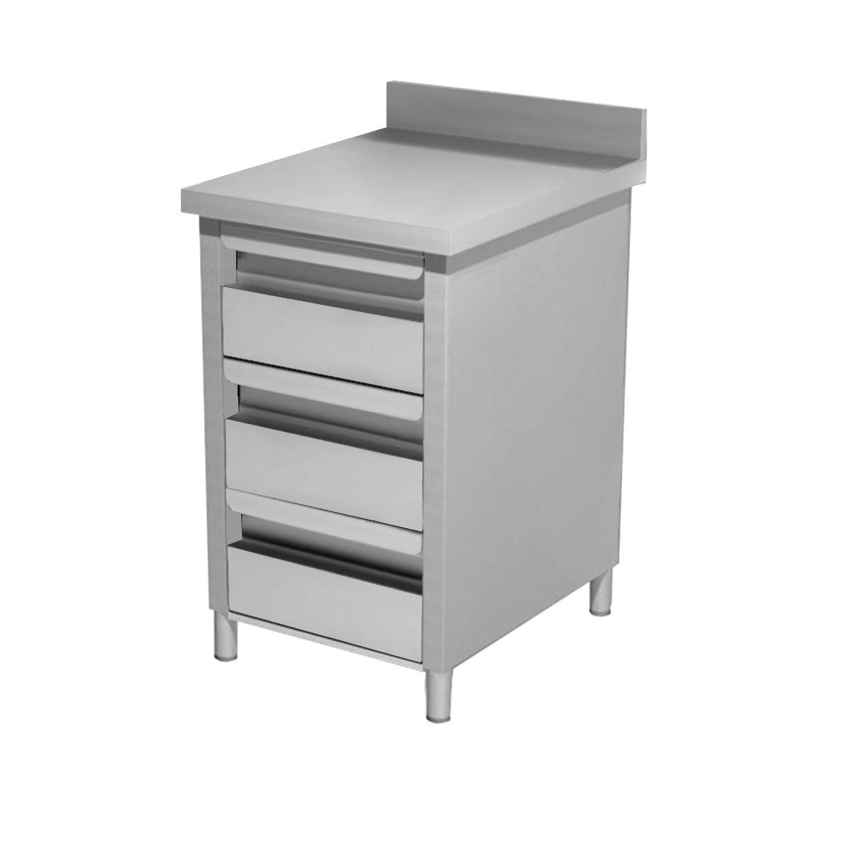 Cassettiera acciaio inox tre cassetti - Alzatina cucina acciaio ...