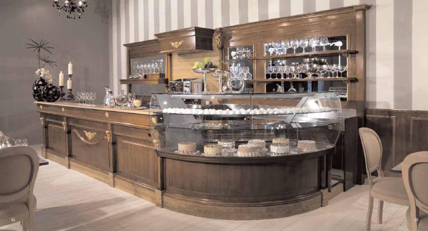Arredamento bar classico legno roma for Arredi bar usati