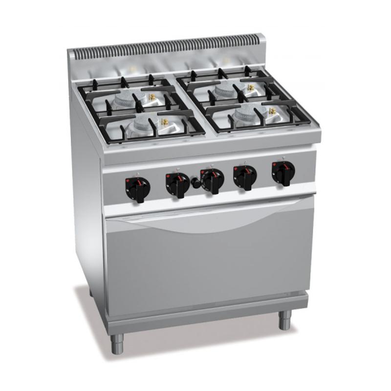 Cucina a gas 4 fuochi con forno a gas - Cucina forno a gas ...