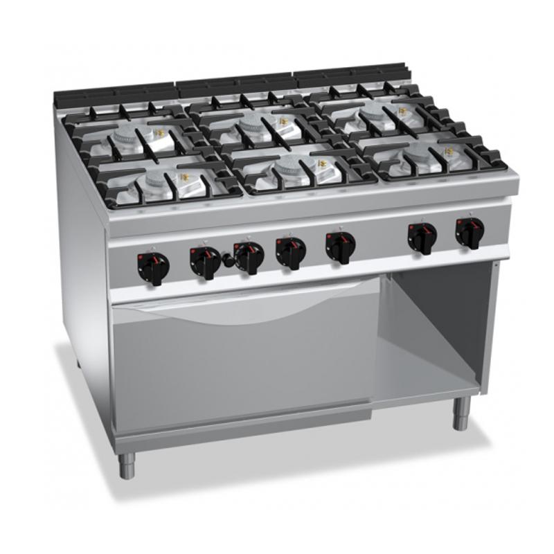 Cucina A Gas 6 Fuochi Su Forno Elettrico