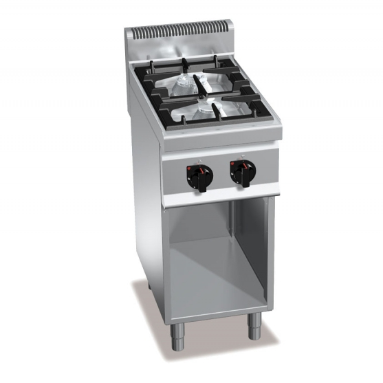 Cucina professionale due fuochi gas su armadio 6 2kw - Cucina a gas due fuochi ...
