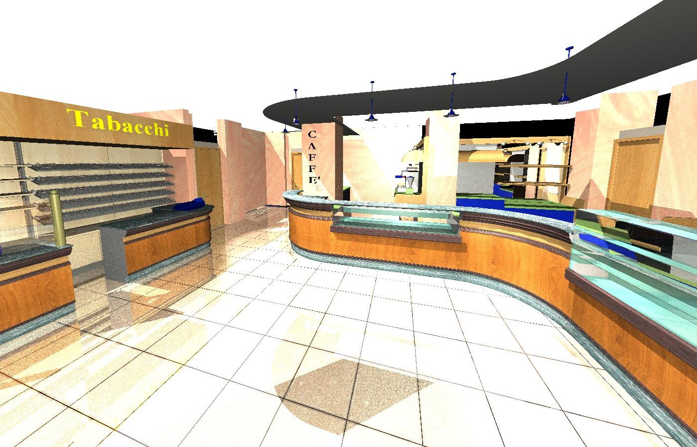 Progetto bar tabaccheria for Arredamento bar tabacchi