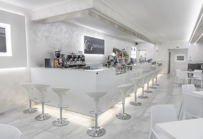 Arredamento bar sensation white for Arredamento bar moderno prezzi
