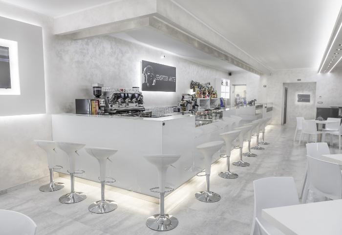 Arredamento bar sensation white for Arredamento pizzeria moderno