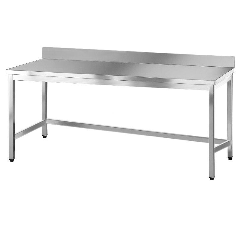 Tavolo acciaio inox aperto con alzatina - Tavoli in acciaio inox ...
