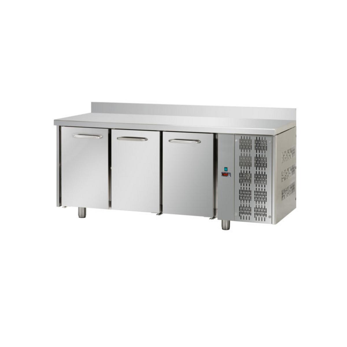 Tavolo refrigerato 3 porte con alzatina E